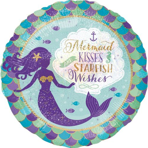 "18"" Mermaid Wishes & Kisses"